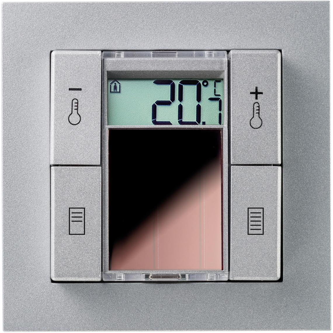 SR06 LCD 2T+Blind Gira E2 aluminium Produktbild