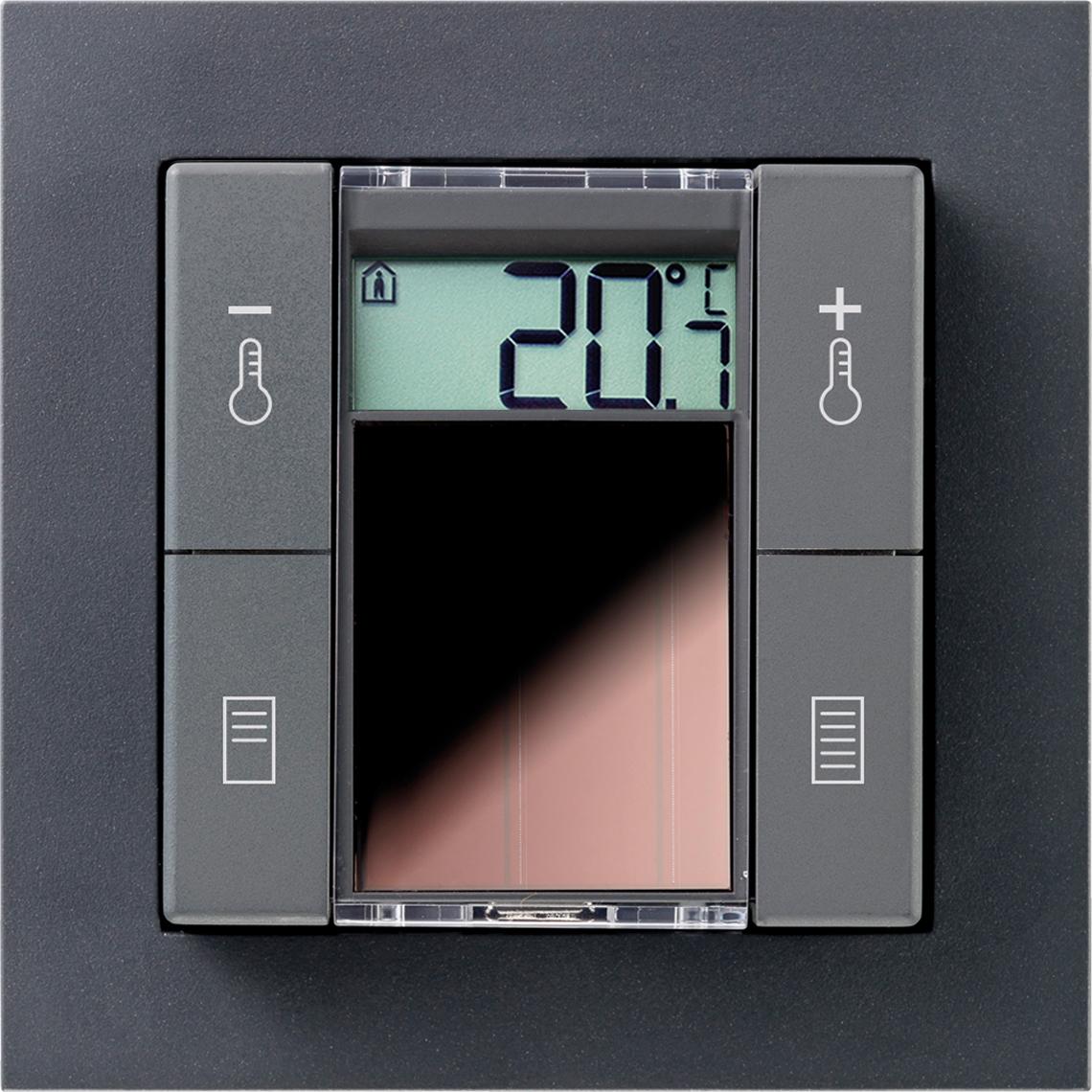 SR06 LCD 2T+Blind Gira E2 anthrazit Produktbild