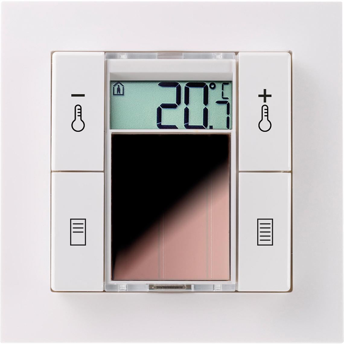 SR06 LCD 2T+Blind Gira E2 reinweiß glänzend Produktbild