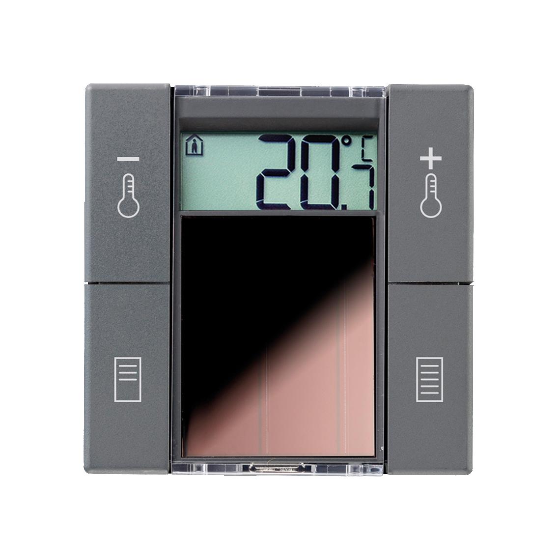SR06 LCD 2T+Blind anthrazit ohne Rahmen Produktbild