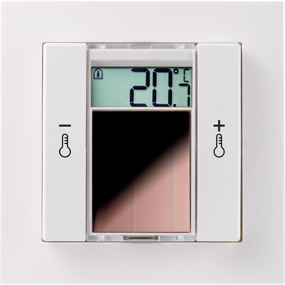 SR06 LCD 2T Gira E2 reinweiß glänzend Produktbild