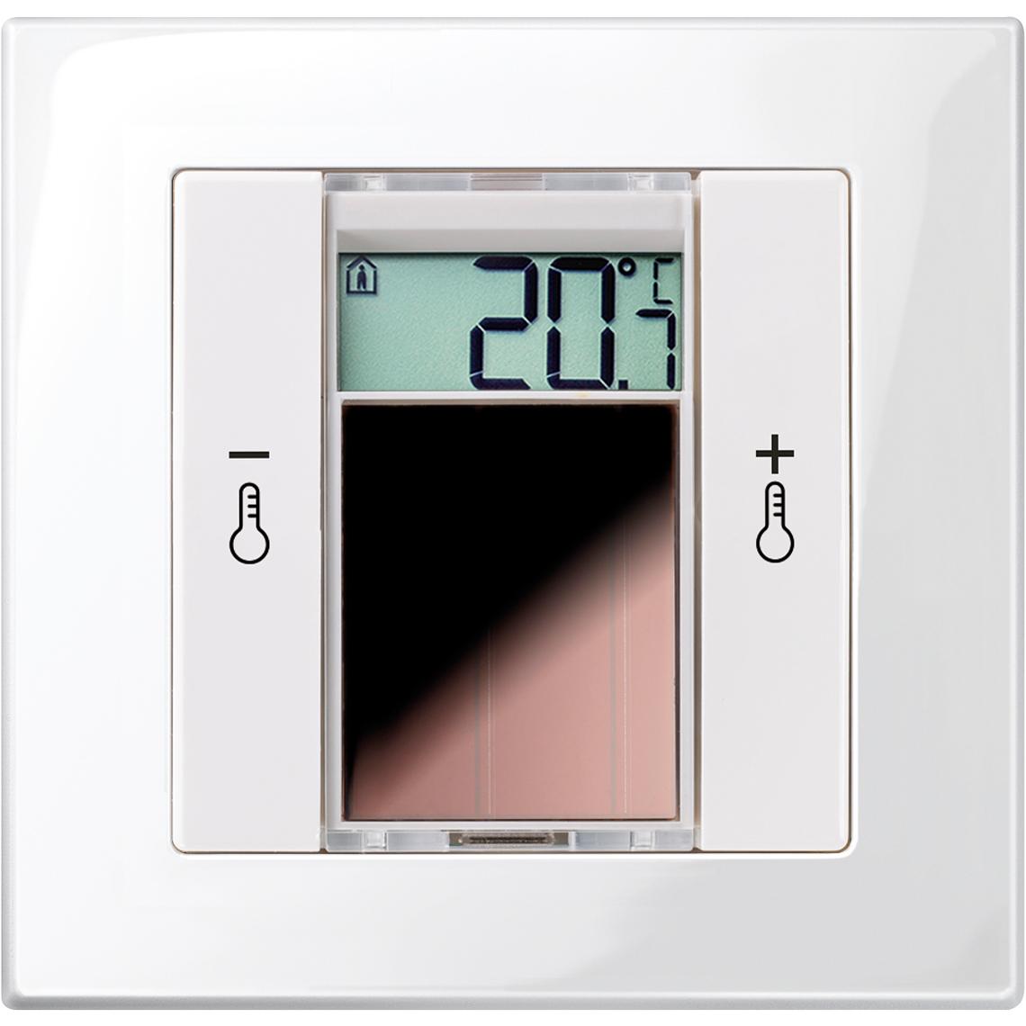 SR06 LCD 2T Merten M-Plan reinweiß glänzend / polarweiß glänzend Produktbild