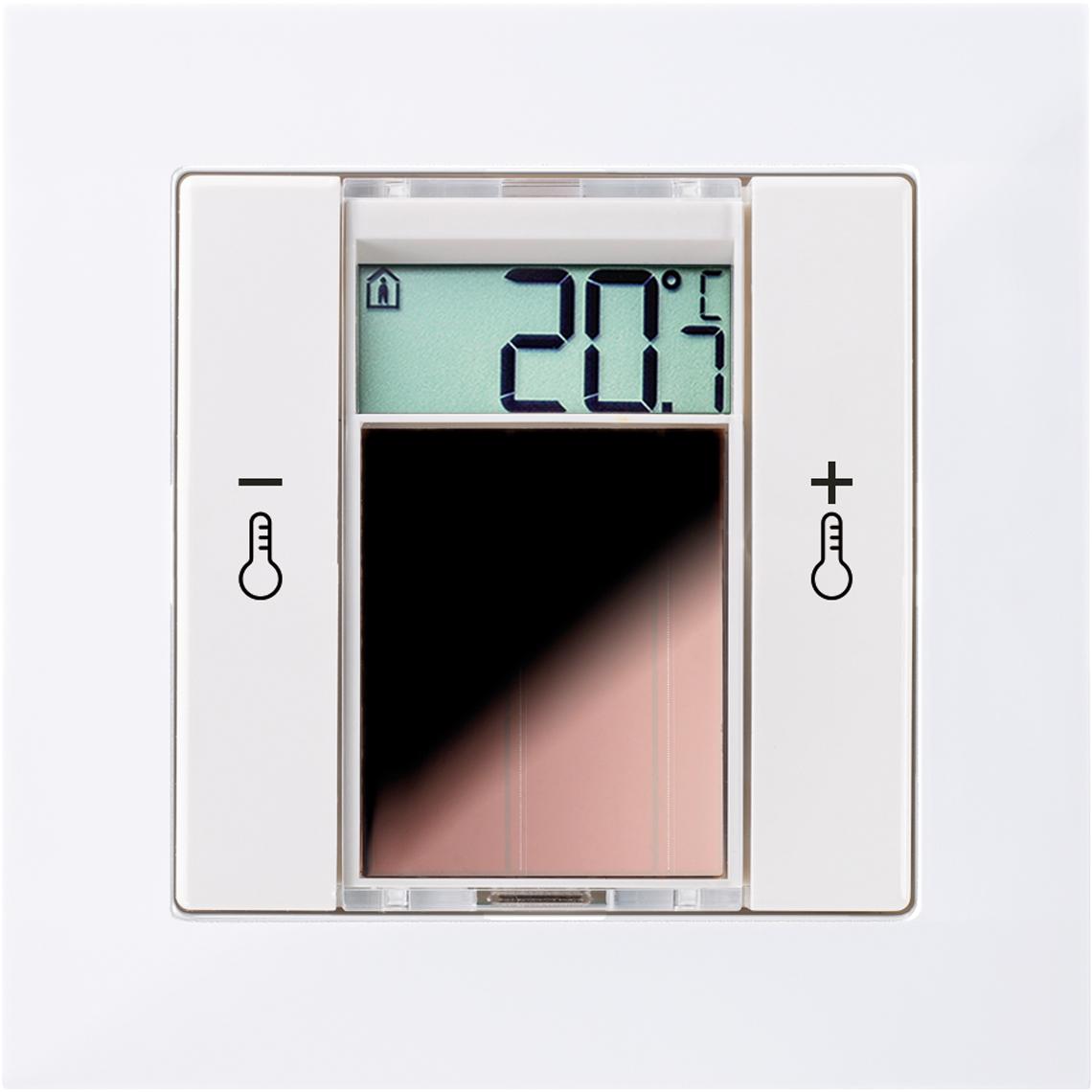 SR06 LCD 2T Merten M-Pure reinweiß glänzend / polarweiß glänzend Produktbild