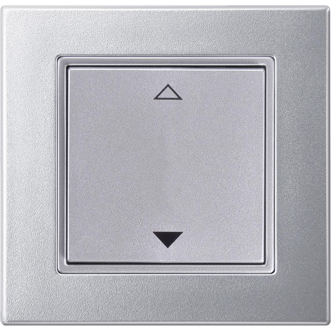 2-Kanal Jalousie Merten M-Plan aluminium Produktbild