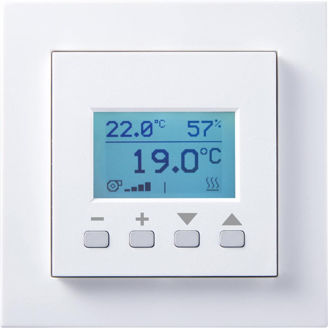FTW06 LCD dS Gira E2 reinweiß glänzend Produktbild