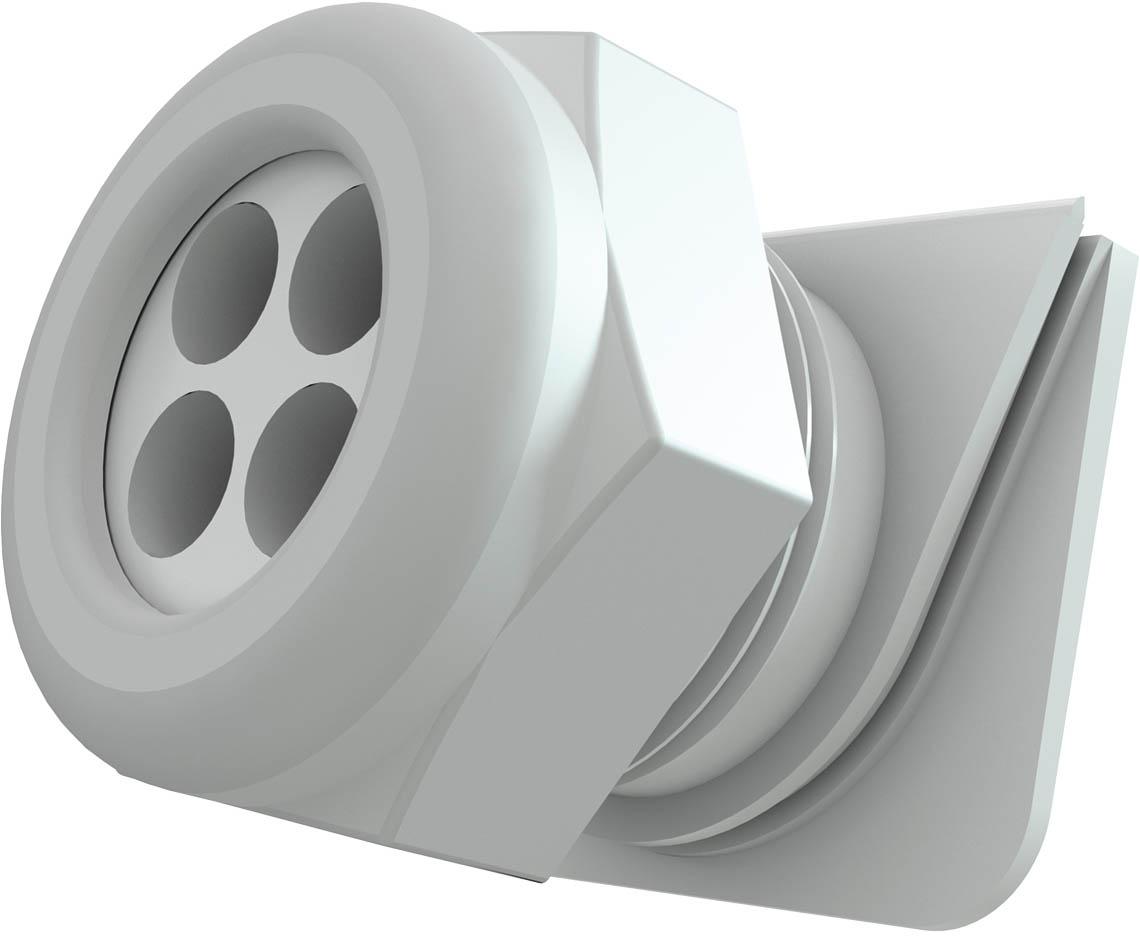 Kabeleinführung M25 USE weiß, Dichteinsatz 4x Ø=7 mm Produktbild