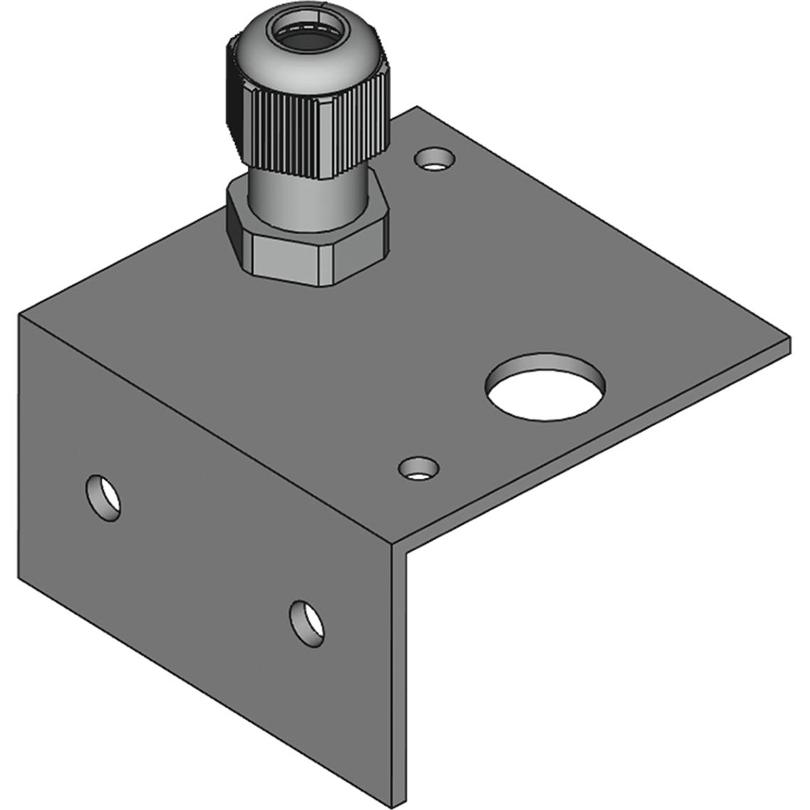 Montagewinkel mit Klemmverschraubung für Kanalfühler Ø=6 mm Produktbild